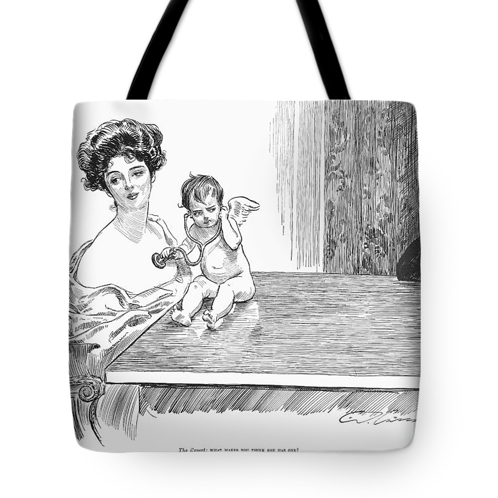 1901 Tote Bag featuring the photograph Gibson: Gibson Girl, 1901 by Granger