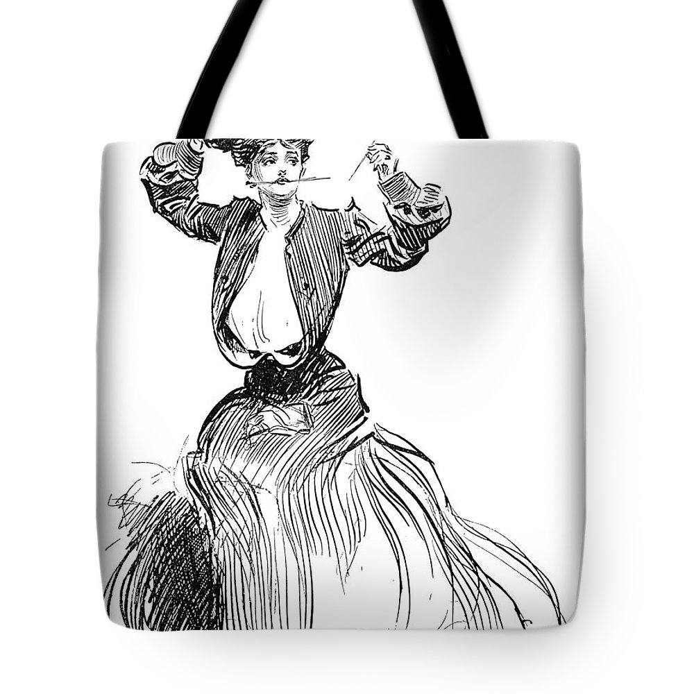 1904 Tote Bag featuring the photograph Gibson: Gibson Girl, 1904 by Granger
