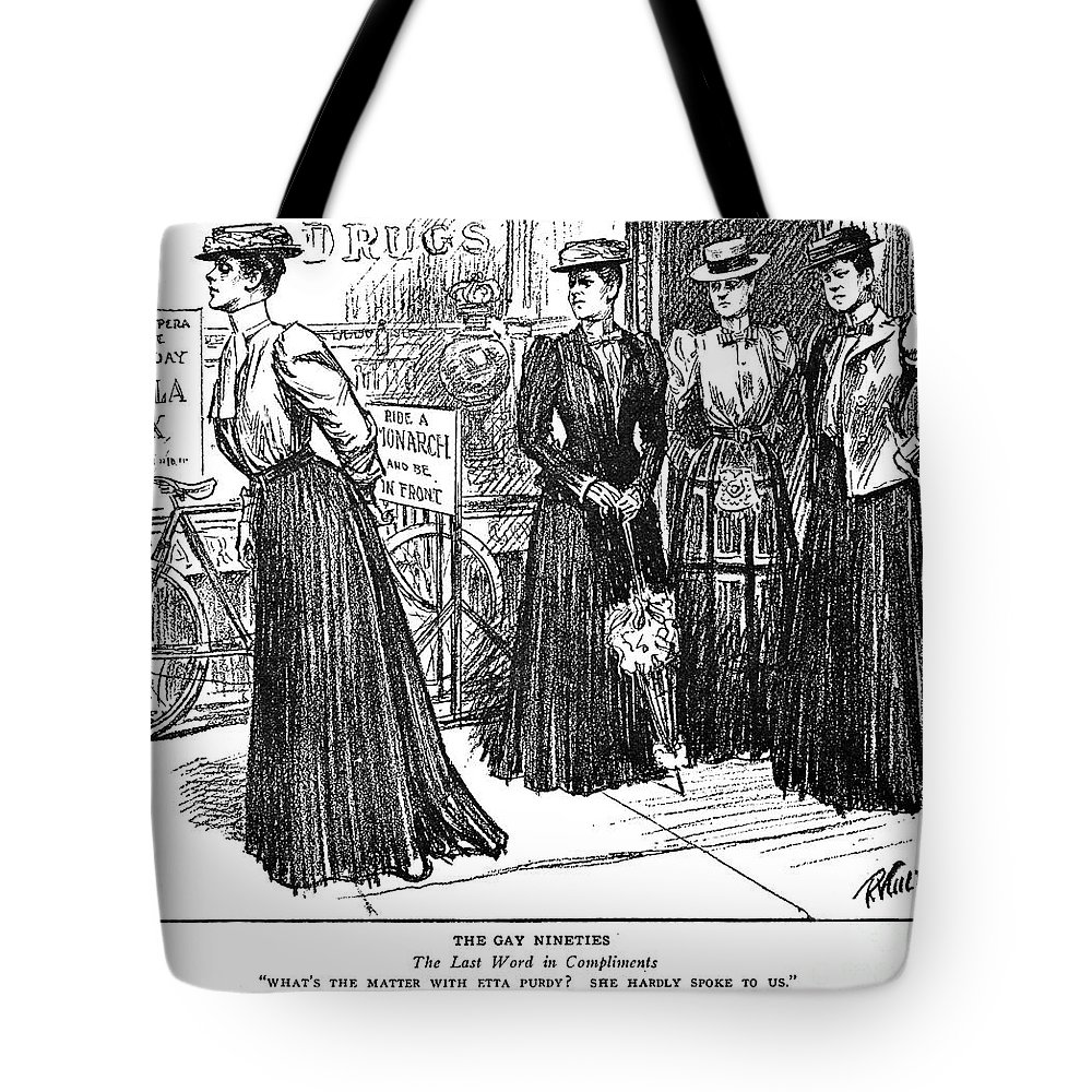 1890s Tote Bag featuring the photograph Gibson Girl, 1890s by Granger