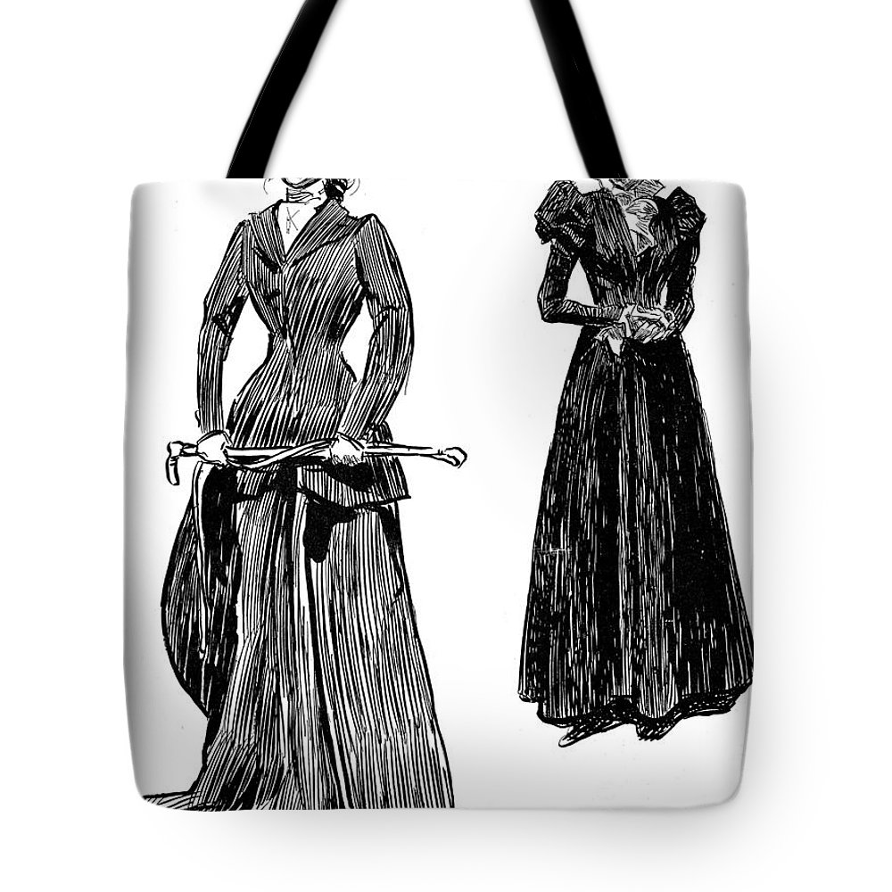 1897 Tote Bag featuring the photograph Gibson: Grandmother, 1897 by Granger