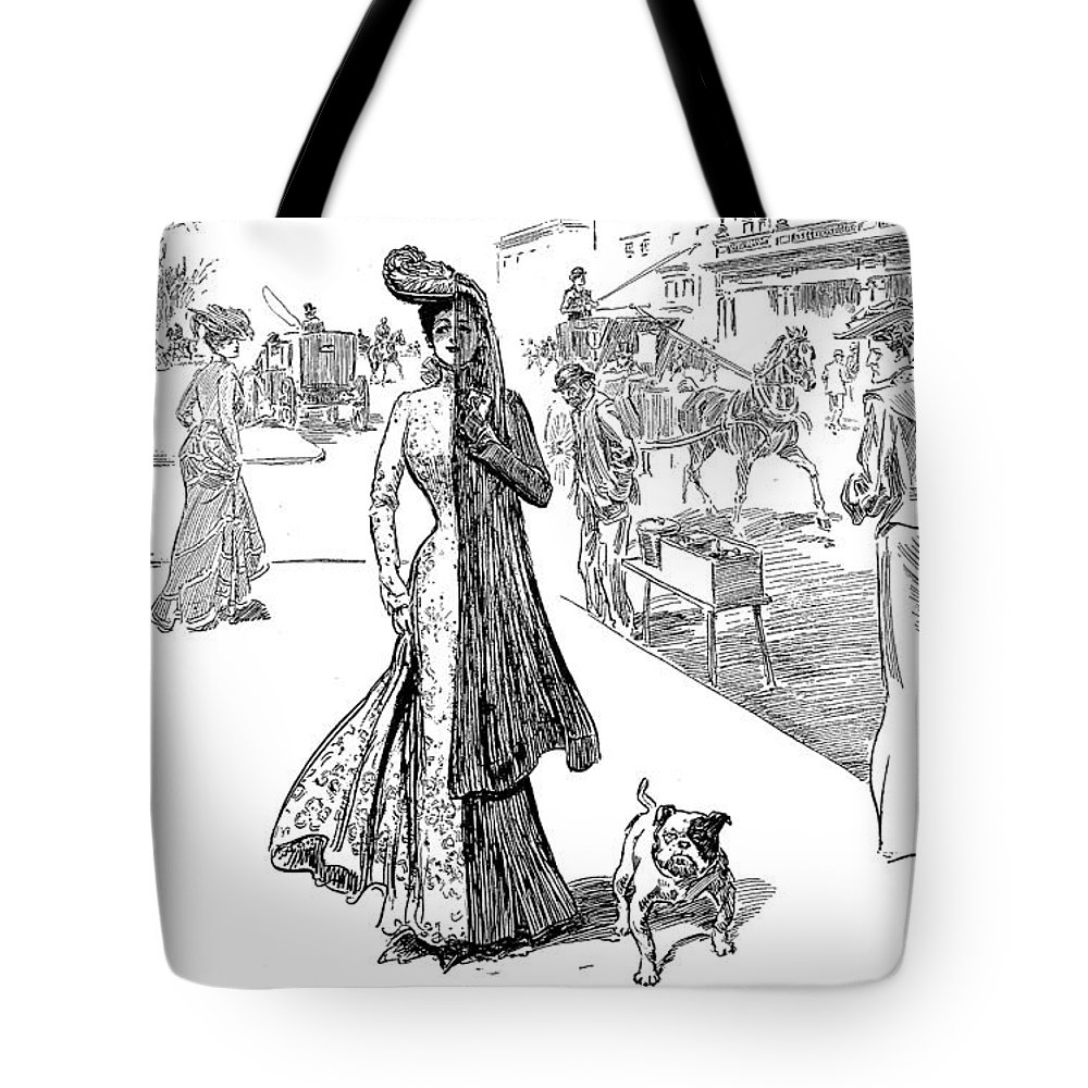 1908 Tote Bag featuring the photograph Gibson: Half Mourning by Granger