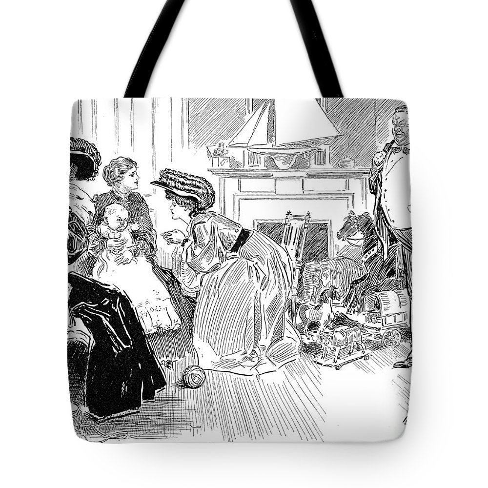 1904 Tote Bag featuring the photograph Gibson: Image Of Father by Granger