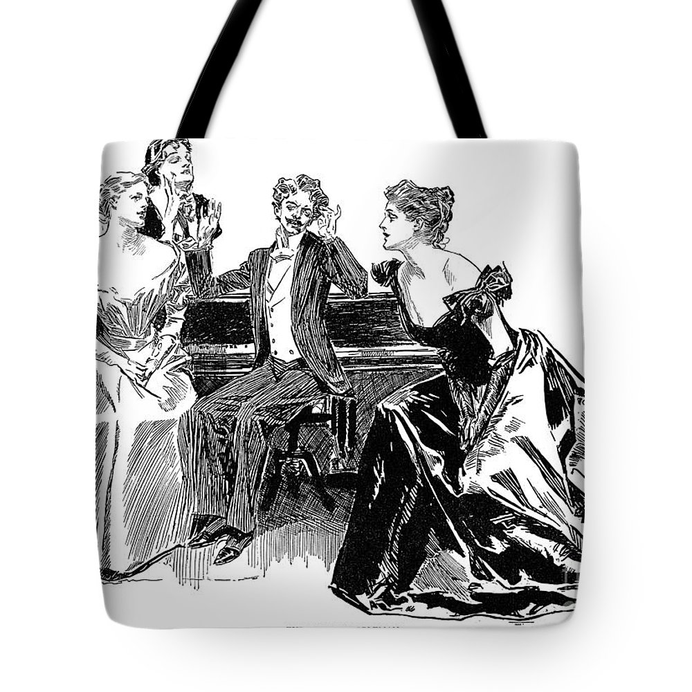 1898 Tote Bag featuring the photograph Gibson: Latest Nobleman by Granger