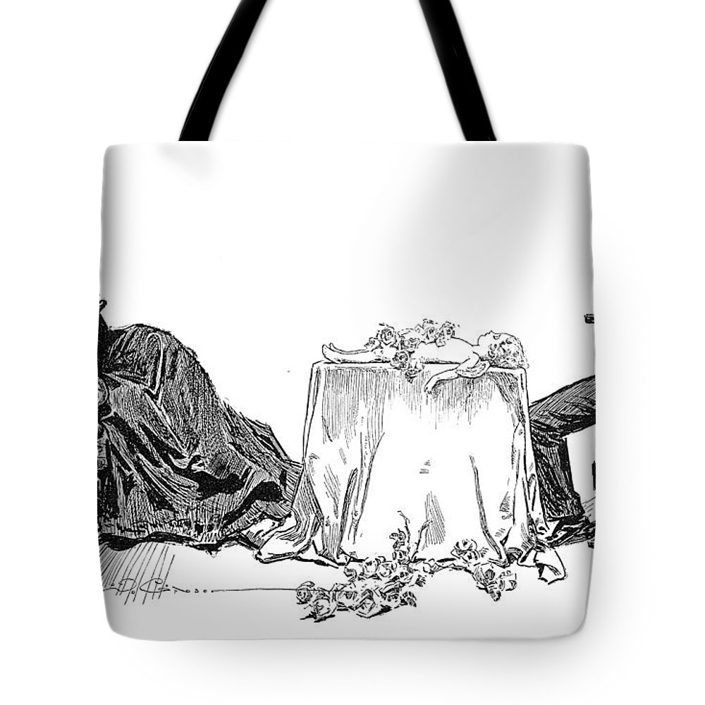 1894 Tote Bag featuring the photograph Gibson: Love Will Die, 1894 by Granger