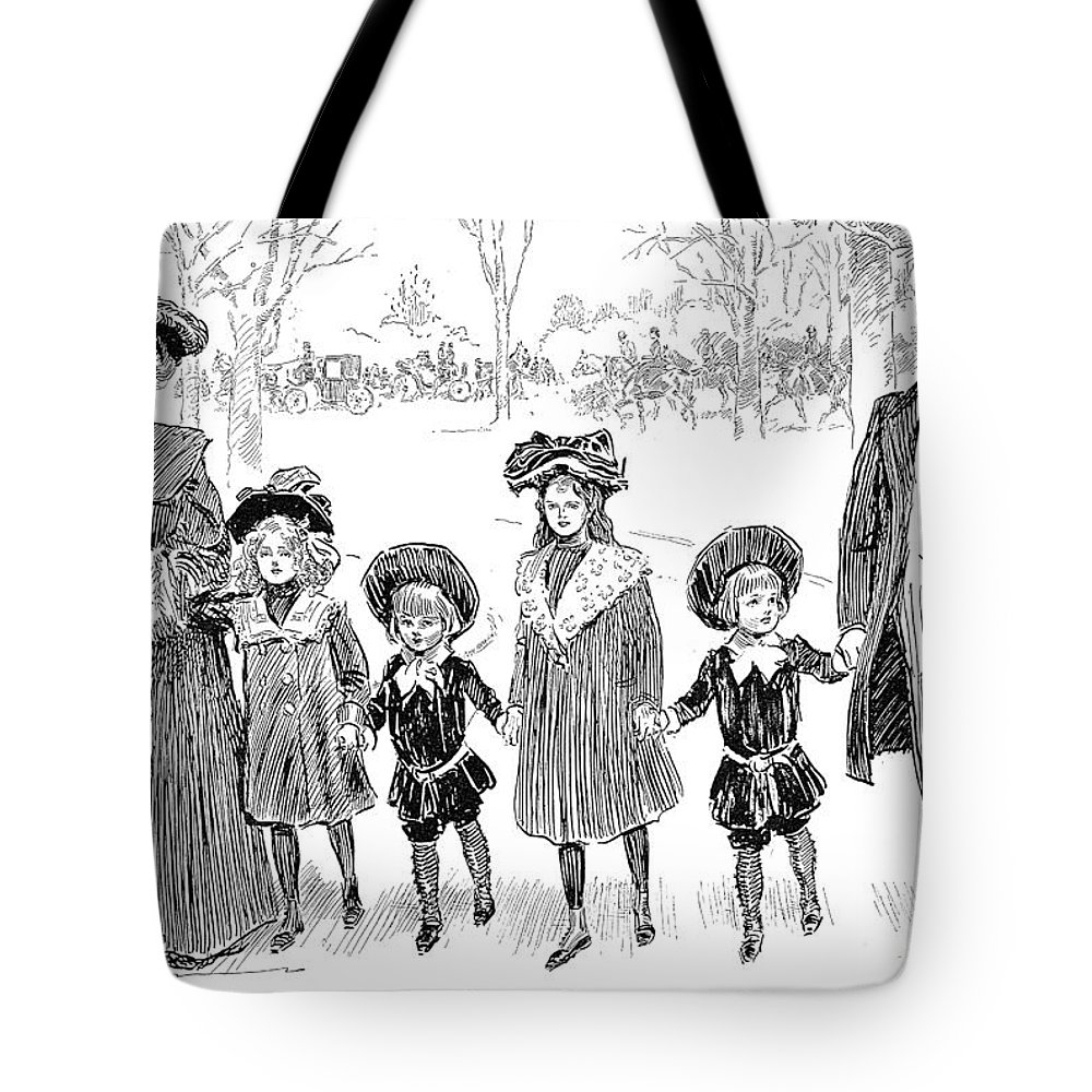 1903 Tote Bag featuring the photograph Gibson: Race Suicide, 1903 by Granger
