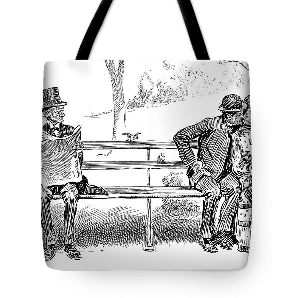 1904 Tote Bag featuring the photograph Signs Of Spring by Charles Dana Gibson