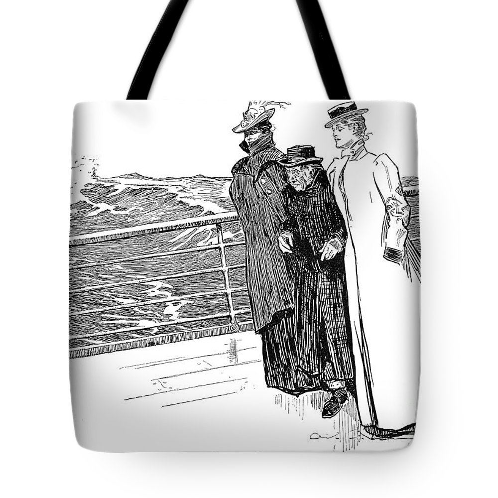 1898 Tote Bag featuring the photograph Gibson: The First Day Out by Granger