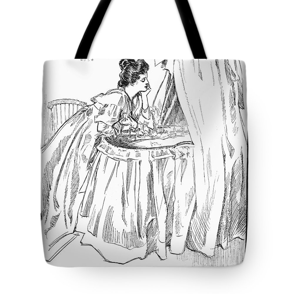 1899 Tote Bag featuring the photograph Gibson: The Mother, 1899 by Granger