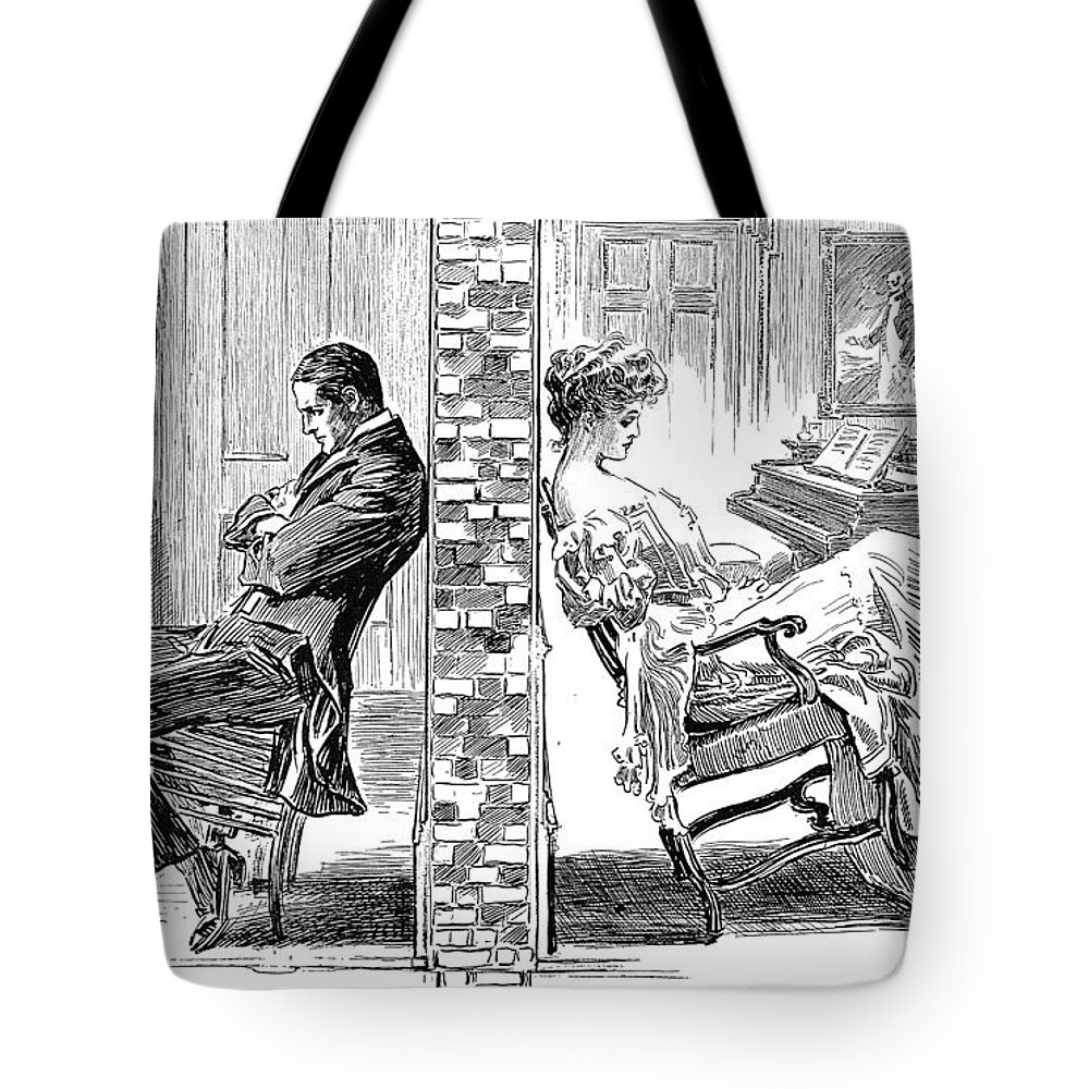 1903 Tote Bag featuring the photograph Gibson: The Party Wall by Granger