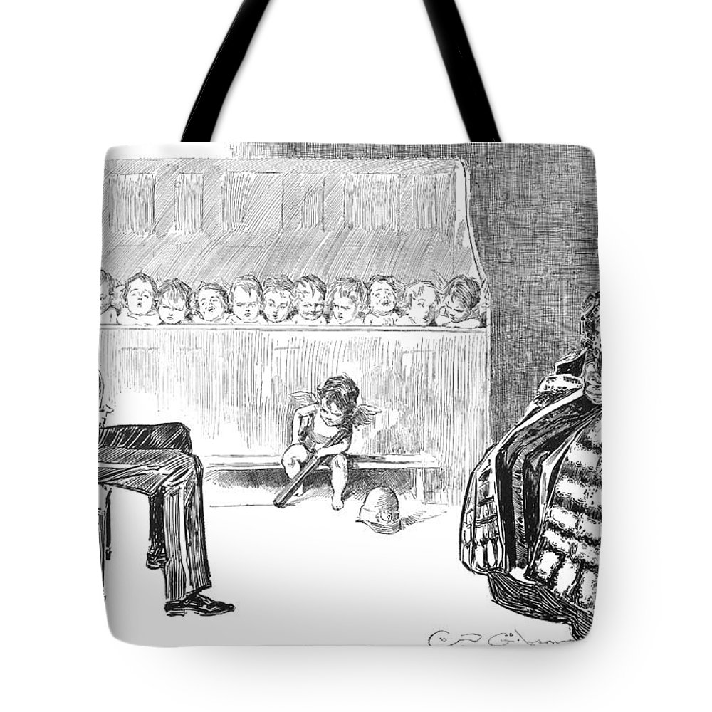 1896 Tote Bag featuring the photograph Gibson: Trial By Jury by Granger