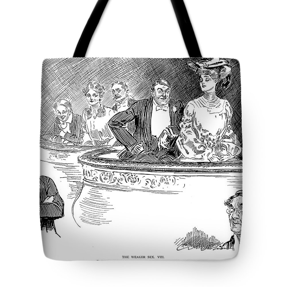 1903 Tote Bag featuring the photograph Weaker Sex Viii by Charles Dana Gibson