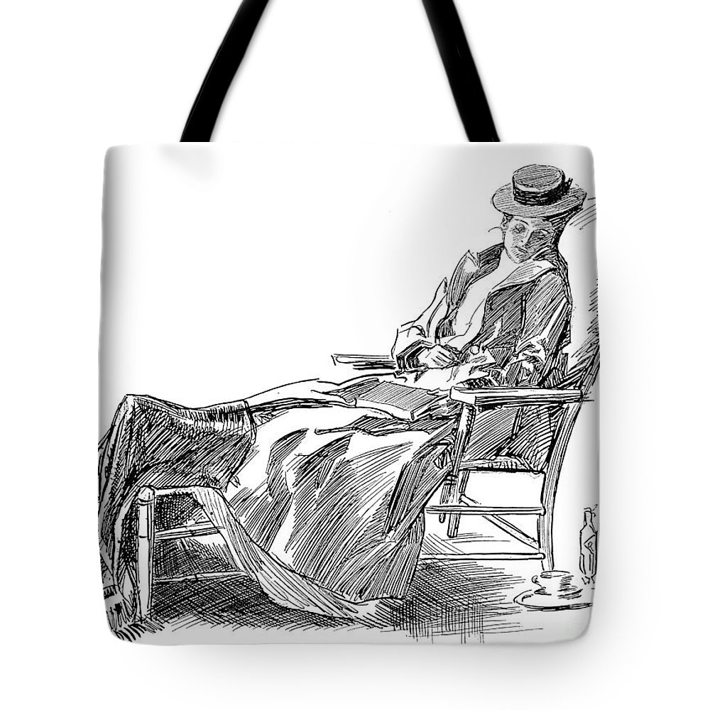 1898 Tote Bag featuring the photograph Gibson: Woman, 1898 by Granger