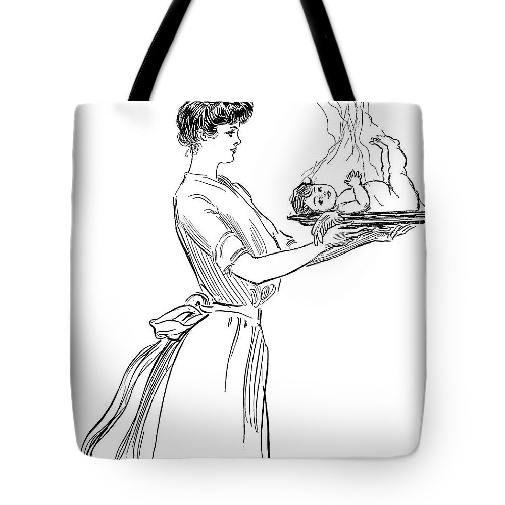 1903 Tote Bag featuring the photograph Gibson: Woman, 1903 by Granger