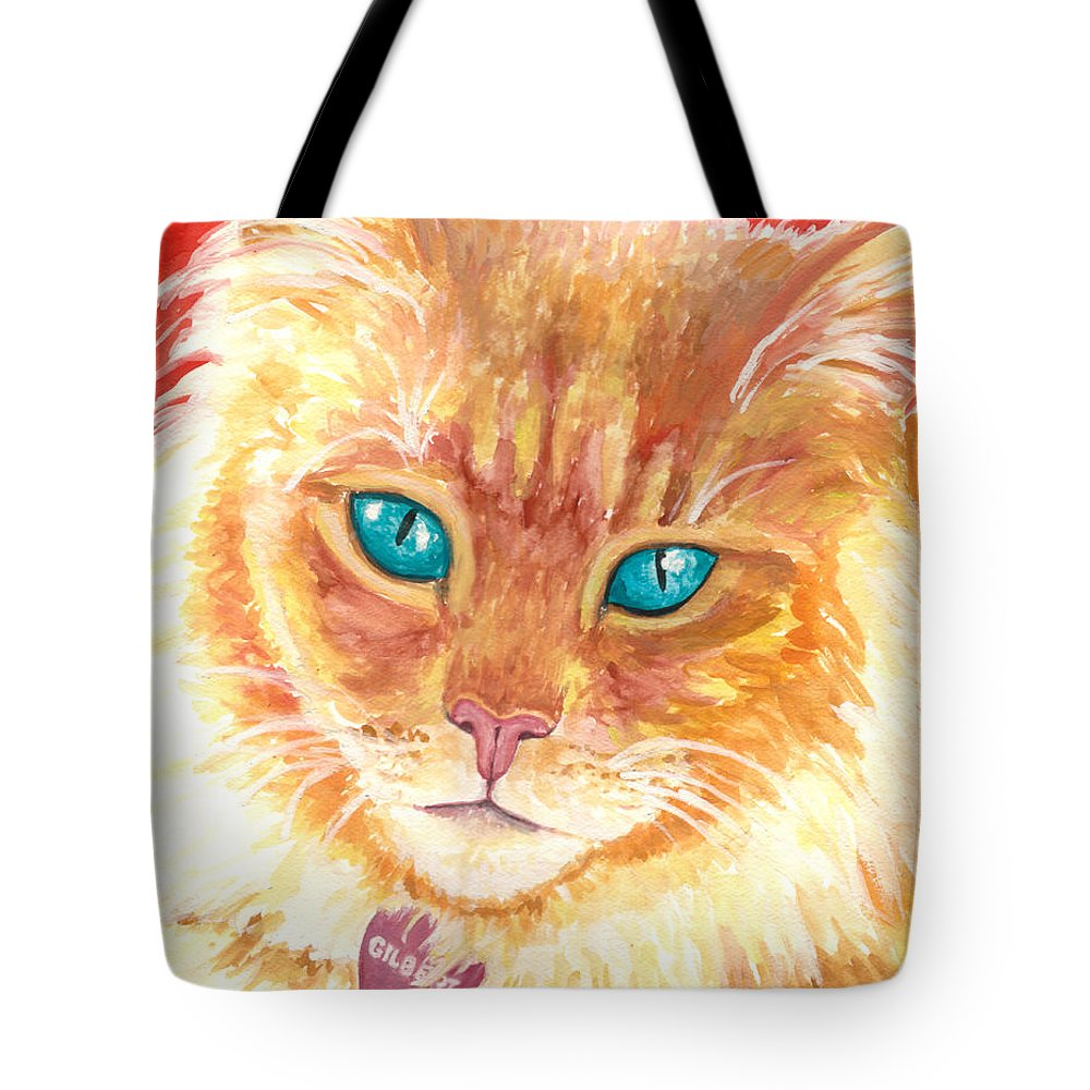 Gilbert Tote Bag featuring the painting Gilbert by Holly Lenz