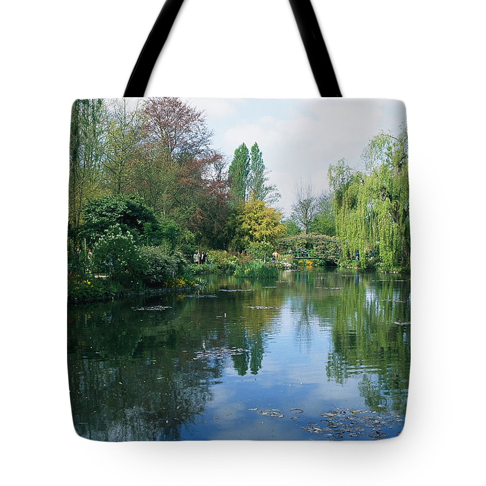 Formal Gardens Tote Bag featuring the photograph Giverny Gardens, Normandy Region by Nicole Duplaix