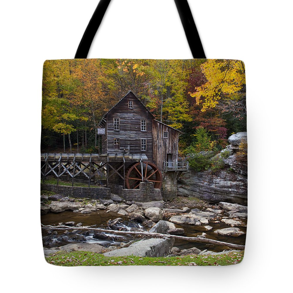 Glade Creek Grist Mill Tote Bag featuring the photograph Glade Creek Grist Mill II by Amy Jackson