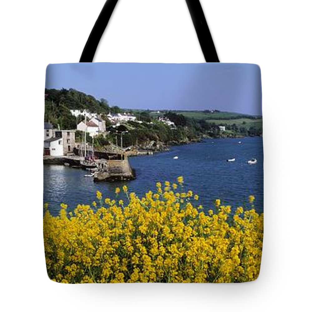 Communities Tote Bag featuring the photograph Glandore Village & Harbour, Co Cork by The Irish Image Collection