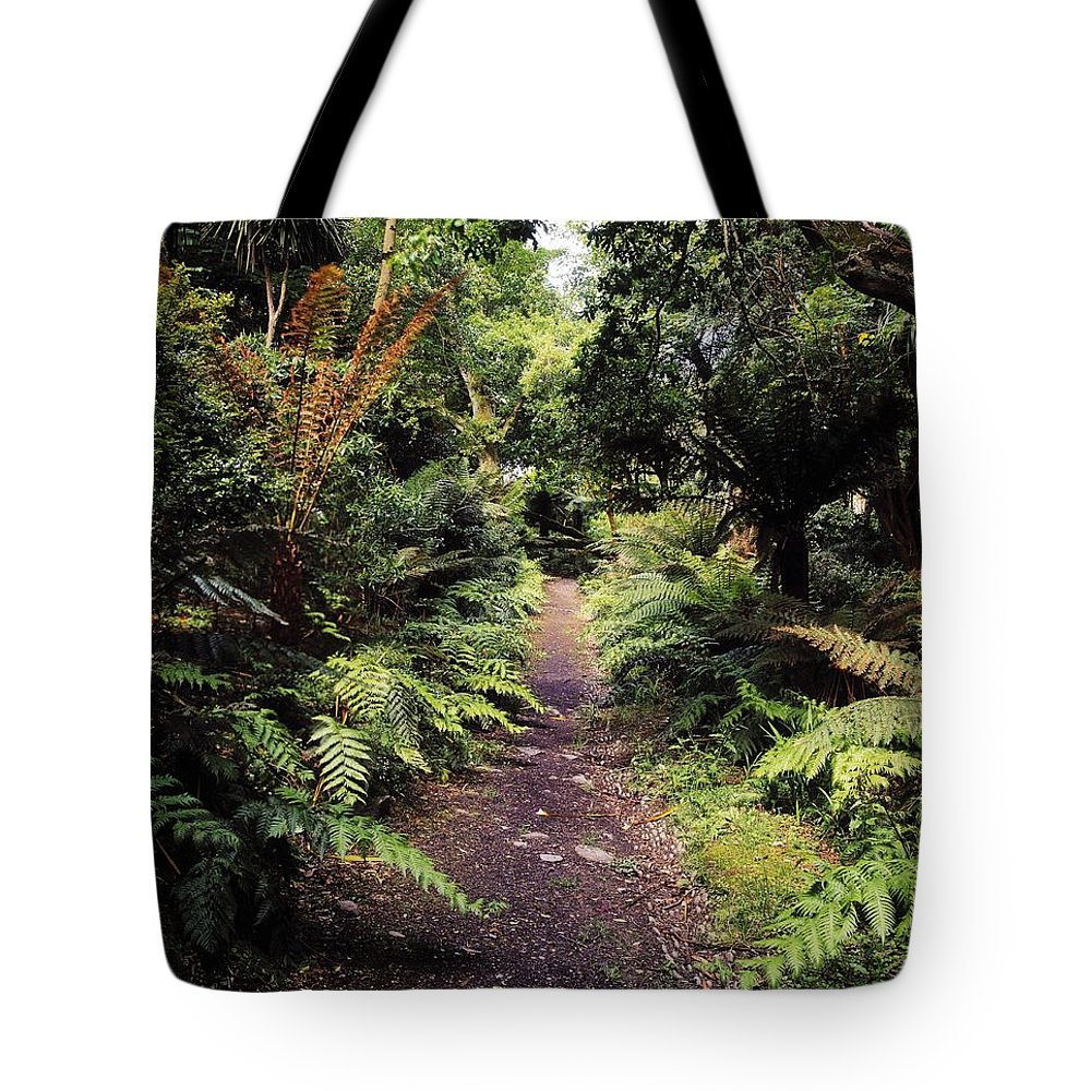 Outdoors Tote Bag featuring the photograph Glanleam, Co Kerry, Ireland Path In The by The Irish Image Collection