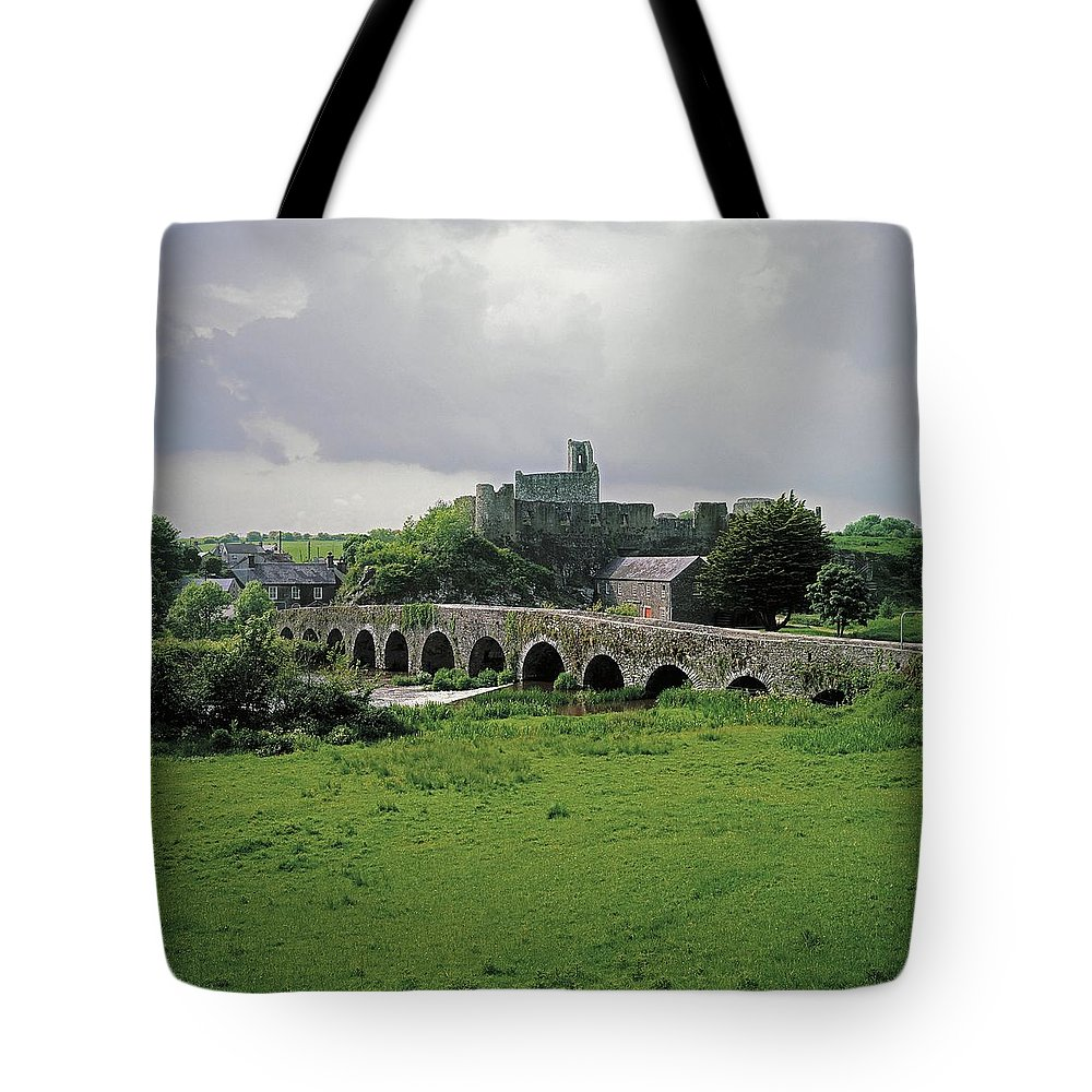 Architecture Tote Bag featuring the photograph Glanworth Bridge, Funshion River, Co by The Irish Image Collection