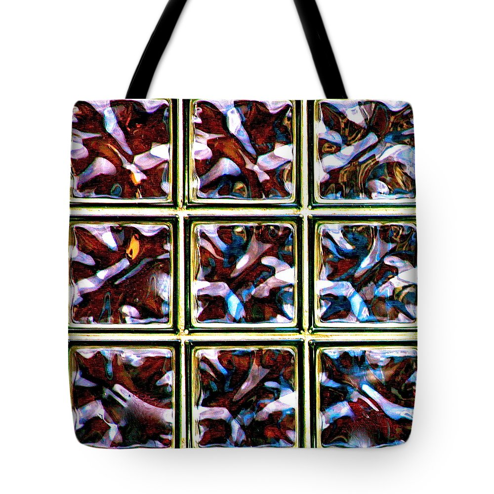 Glass Tote Bag featuring the photograph Glass Bricks by Karon Melillo DeVega