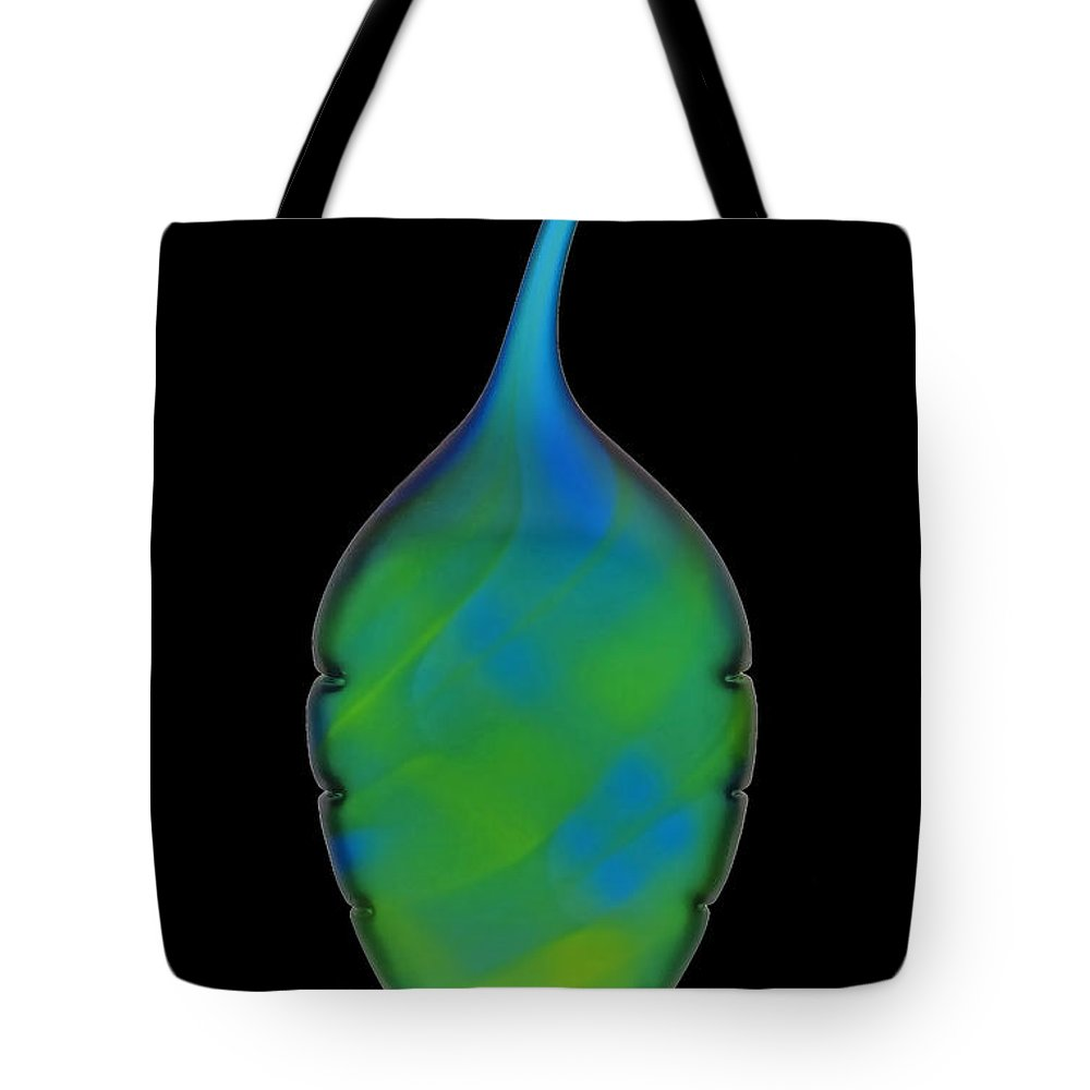 Glass Vase Tote Bag featuring the photograph Glass Vase by Dave Mills