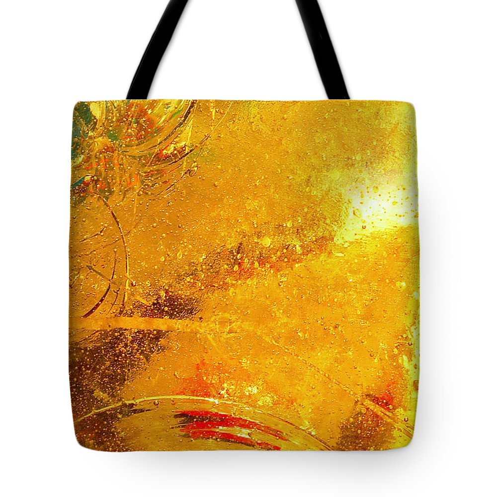 Abstract Photography Tote Bag featuring the photograph Glassworks Series-gold I by Regina Geoghan