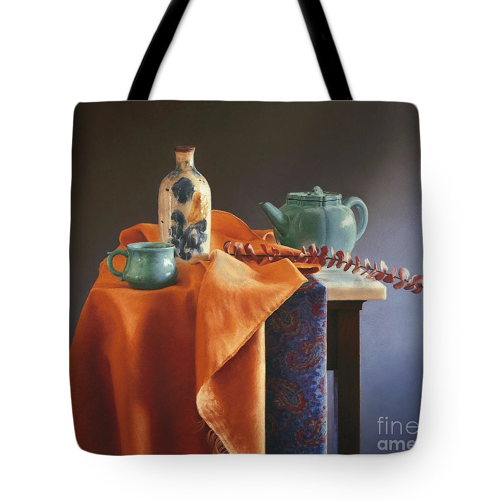 Still Life Tote Bag featuring the painting Glazed With Light by Barbara Groff