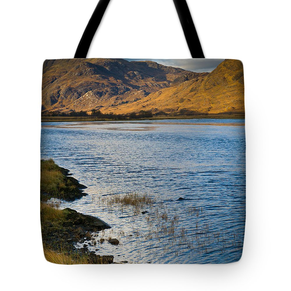 Glen Gour Tote Bag featuring the photograph Glen Gour View by Gary Eason