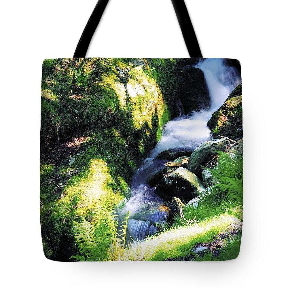 Blurred Motion Tote Bag featuring the photograph Glendalough, Co Wicklow, Ireland by The Irish Image Collection
