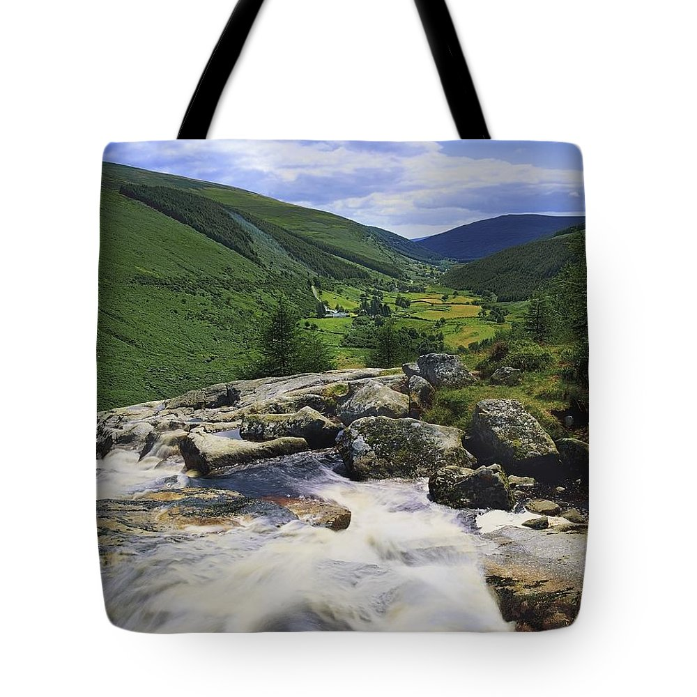 County Wicklow Tote Bag featuring the photograph Glenmacnass, County Wicklow, Ireland by The Irish Image Collection