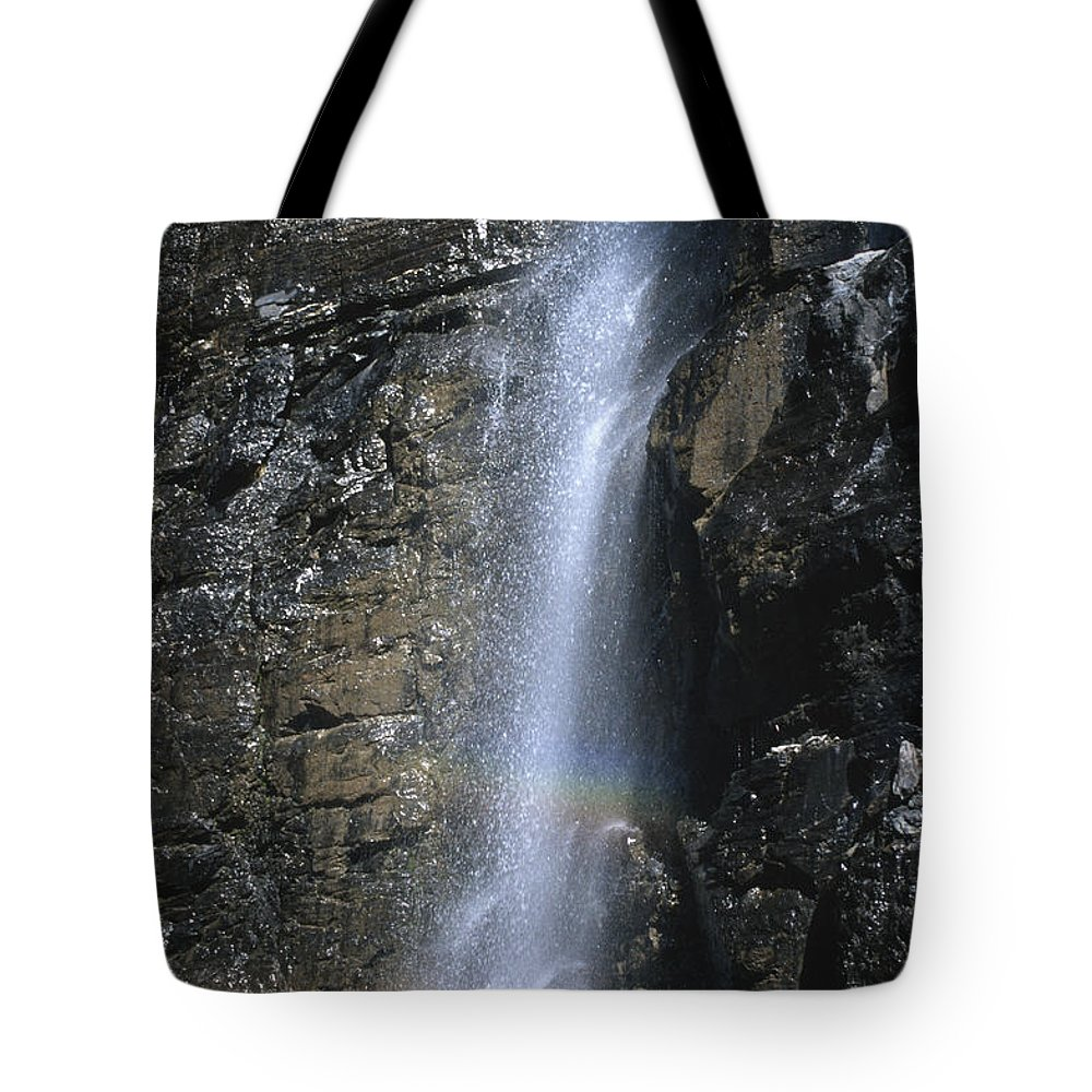 Bronstein Tote Bag featuring the photograph Going To The Sun Road Waterfall by Sandra Bronstein