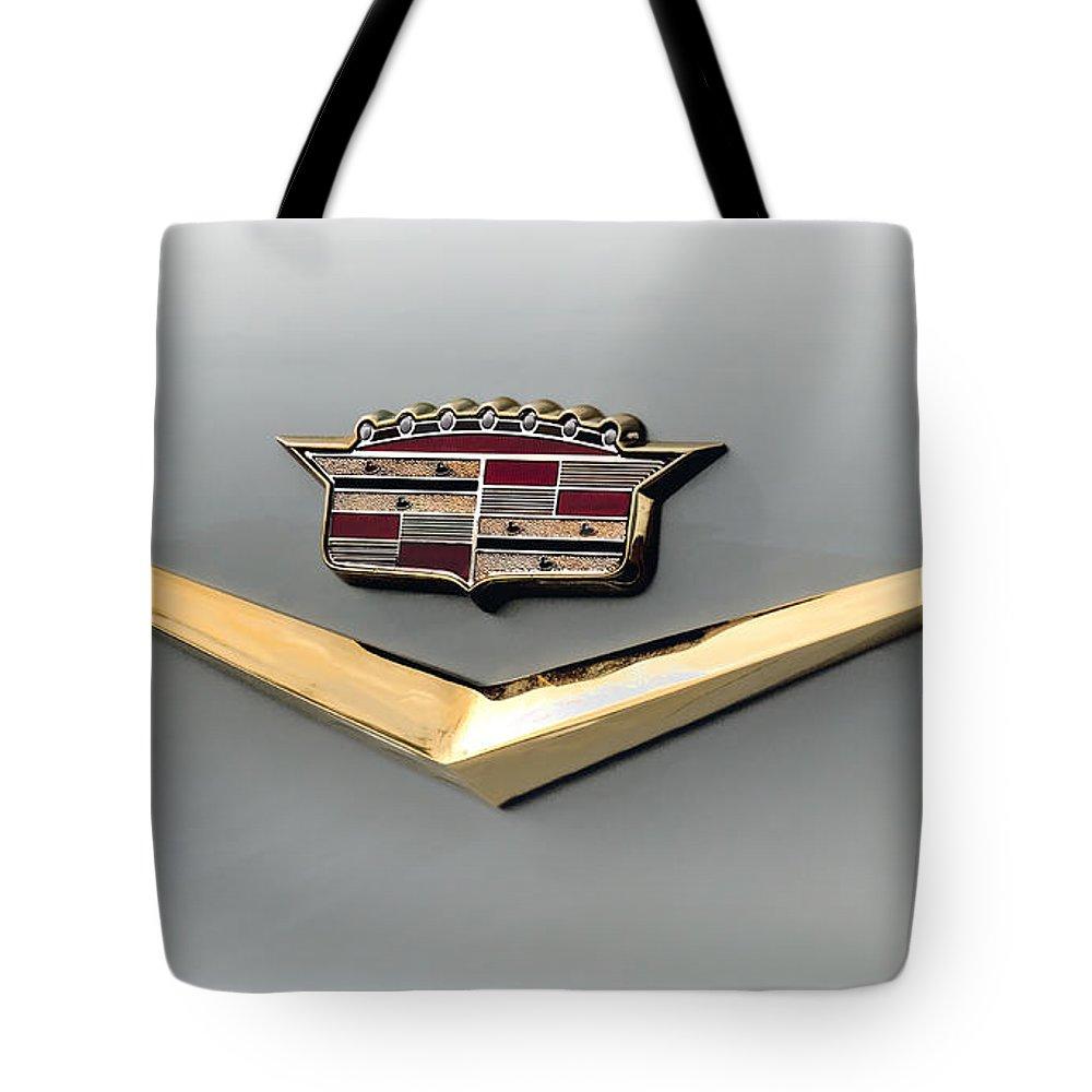 Cadillac Tote Bag featuring the digital art Gold Badge Cadillac by Douglas Pittman