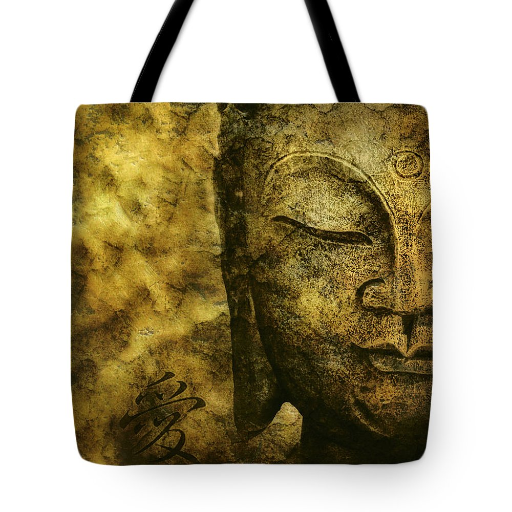 Buddha Tote Bag featuring the photograph Gold by Claudia Moeckel