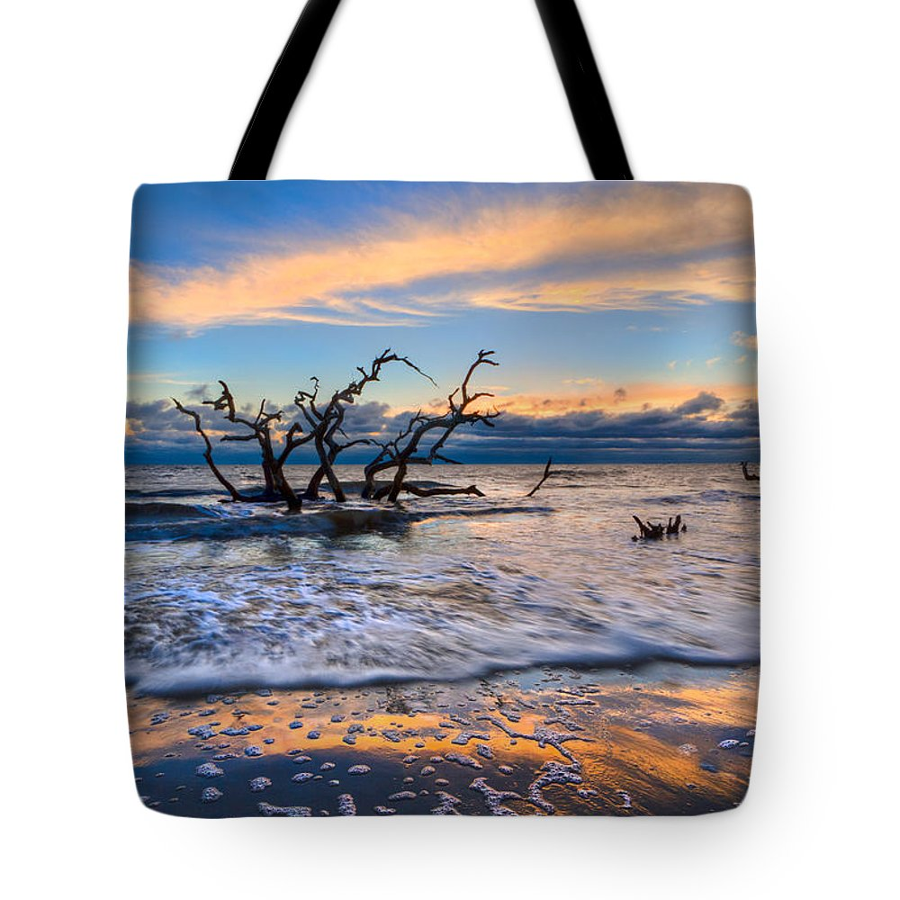 Clouds Tote Bag featuring the photograph Gold Glitter by Debra and Dave Vanderlaan
