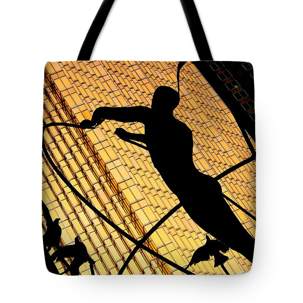 Gold Tote Bag featuring the photograph Golden Art by Valentino Visentini