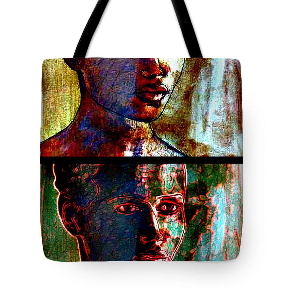 Gauguin Tote Bag featuring the photograph Golden Girl Series by Diane montana Jansson