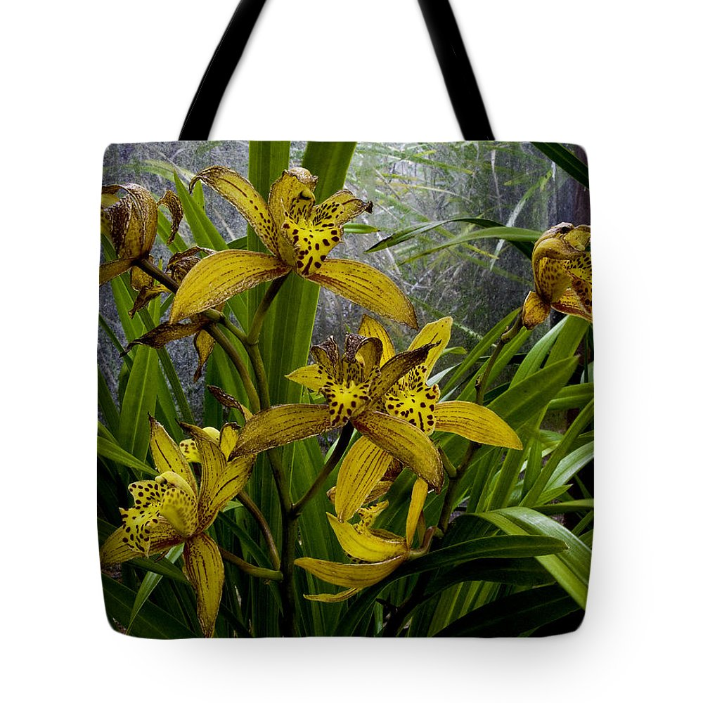Maui Tote Bag featuring the photograph Golden Orchid by Leon Roland