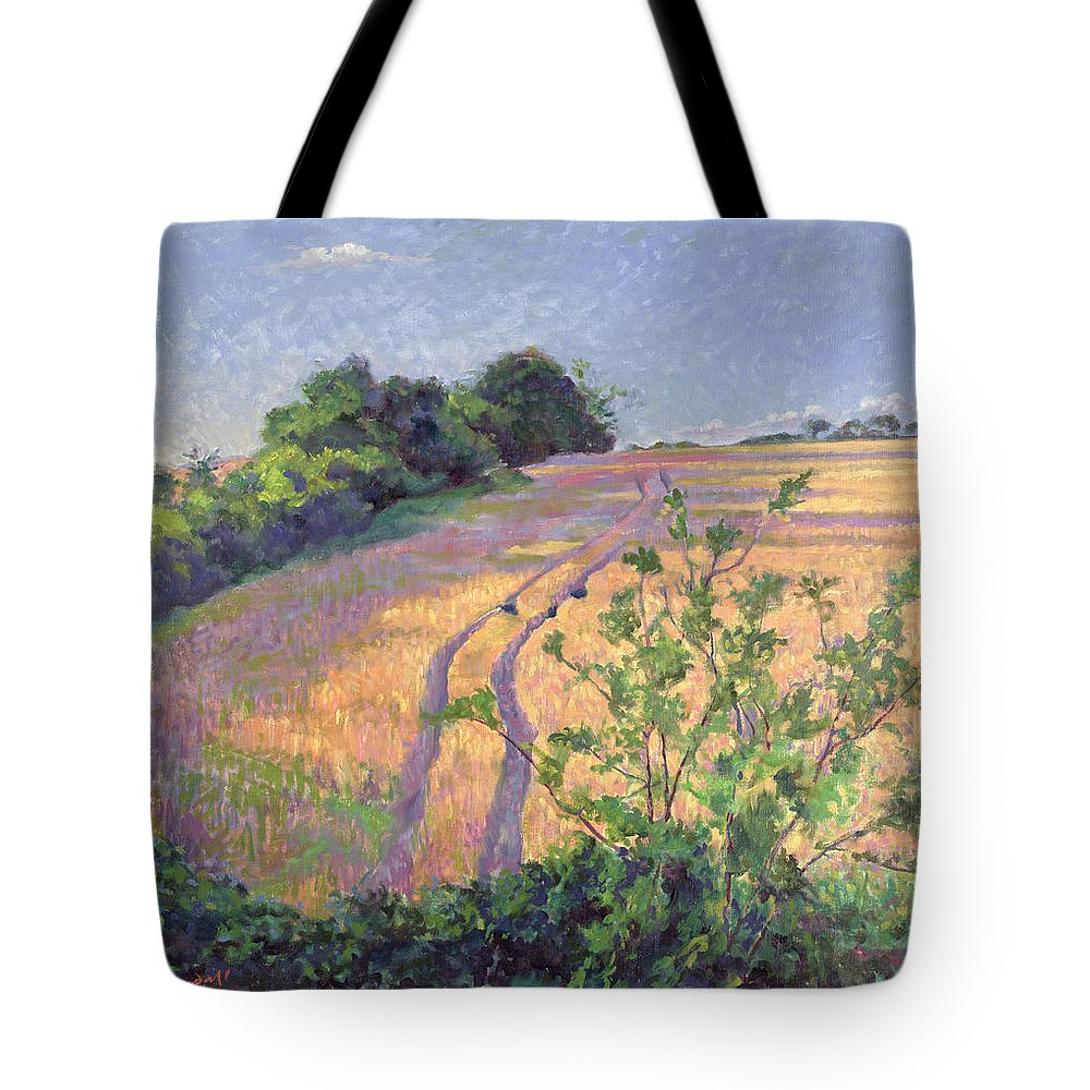 Landscape Tote Bag featuring the painting Golden Summer by Robert Tyndall