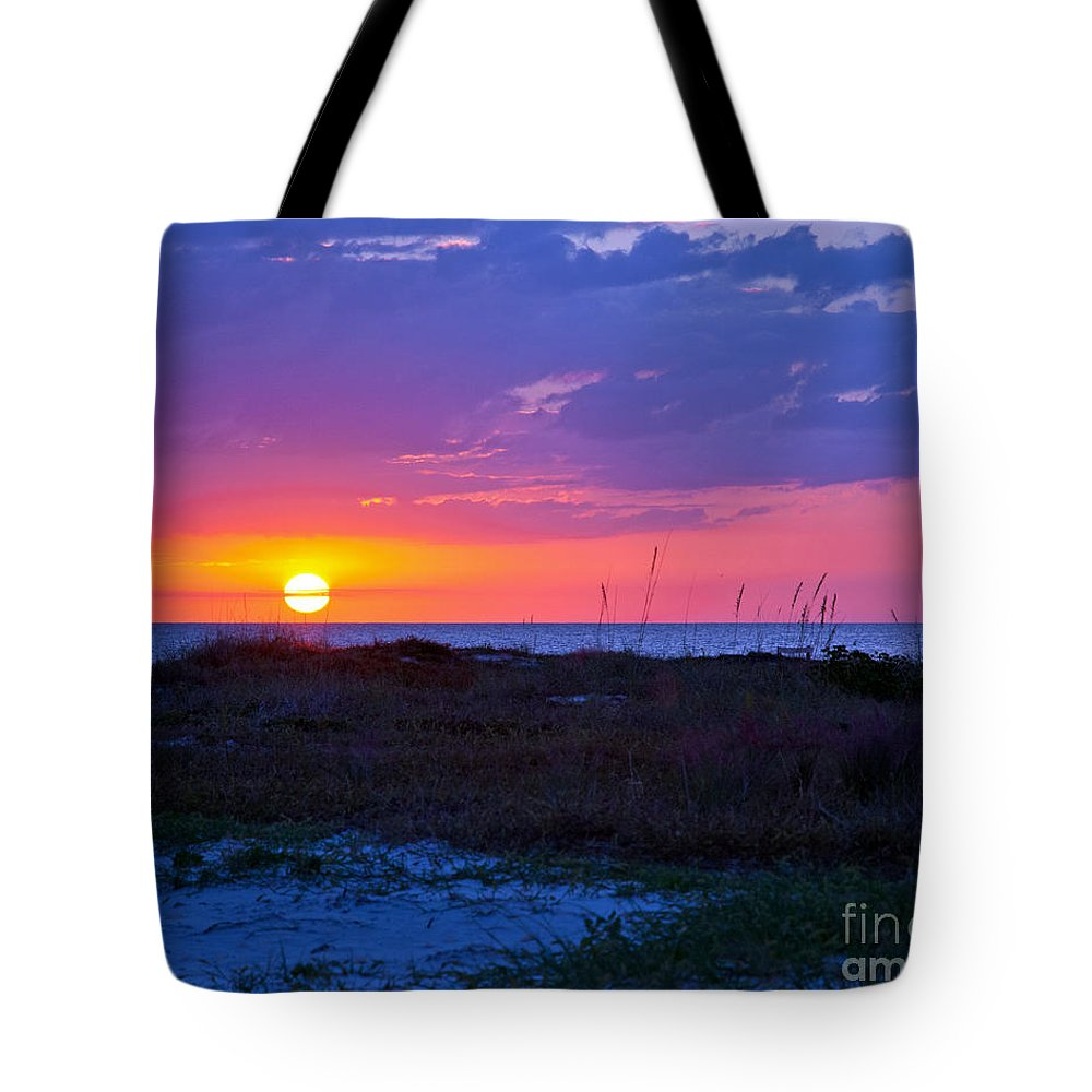 Sunset Tote Bag featuring the photograph Golden Sun by Stephen Whalen