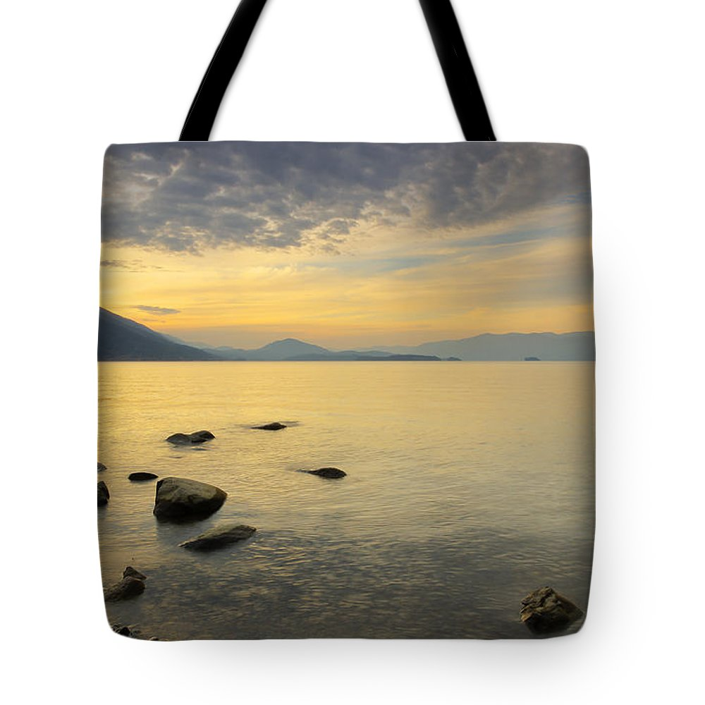 Idaho Panhandle Tote Bag featuring the photograph Golden Waters by Idaho Scenic Images Linda Lantzy