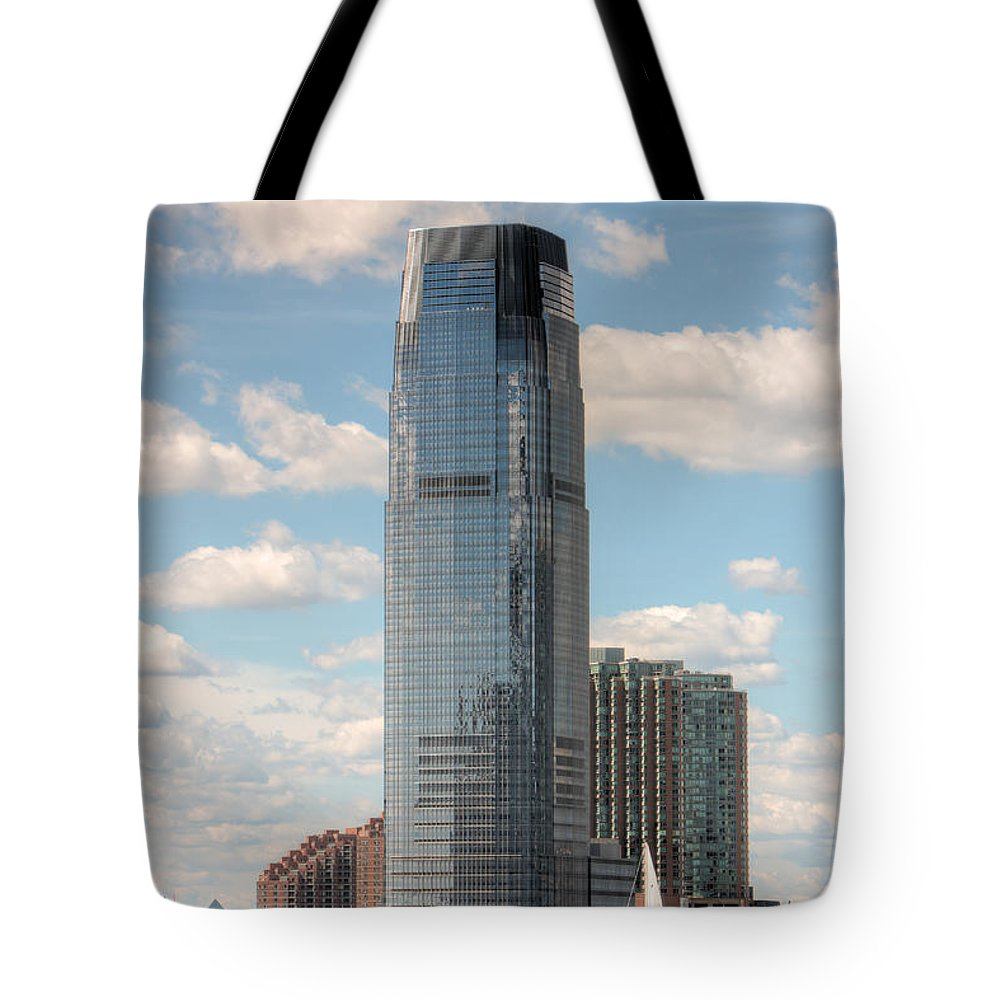 Clarence Holmes Tote Bag featuring the photograph Goldman Sachs Tower IIi by Clarence Holmes