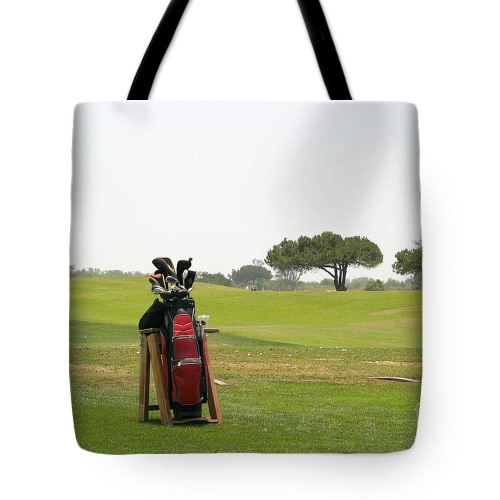 Bag Tote Bag featuring the photograph Golf Bag by Henrik Lehnerer