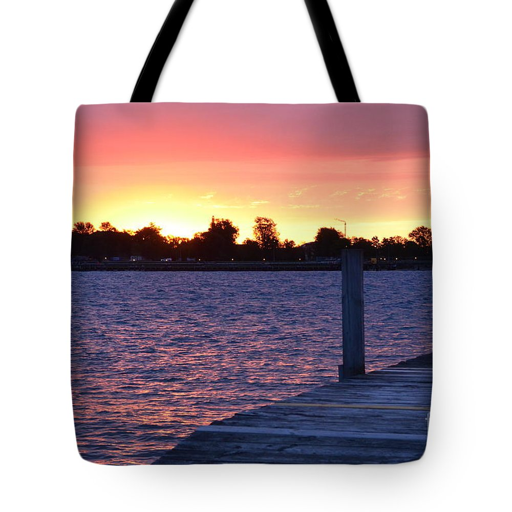 Sunrise Tote Bag featuring the photograph Good Morning From Marysville Michigan Usa by Randy J Heath