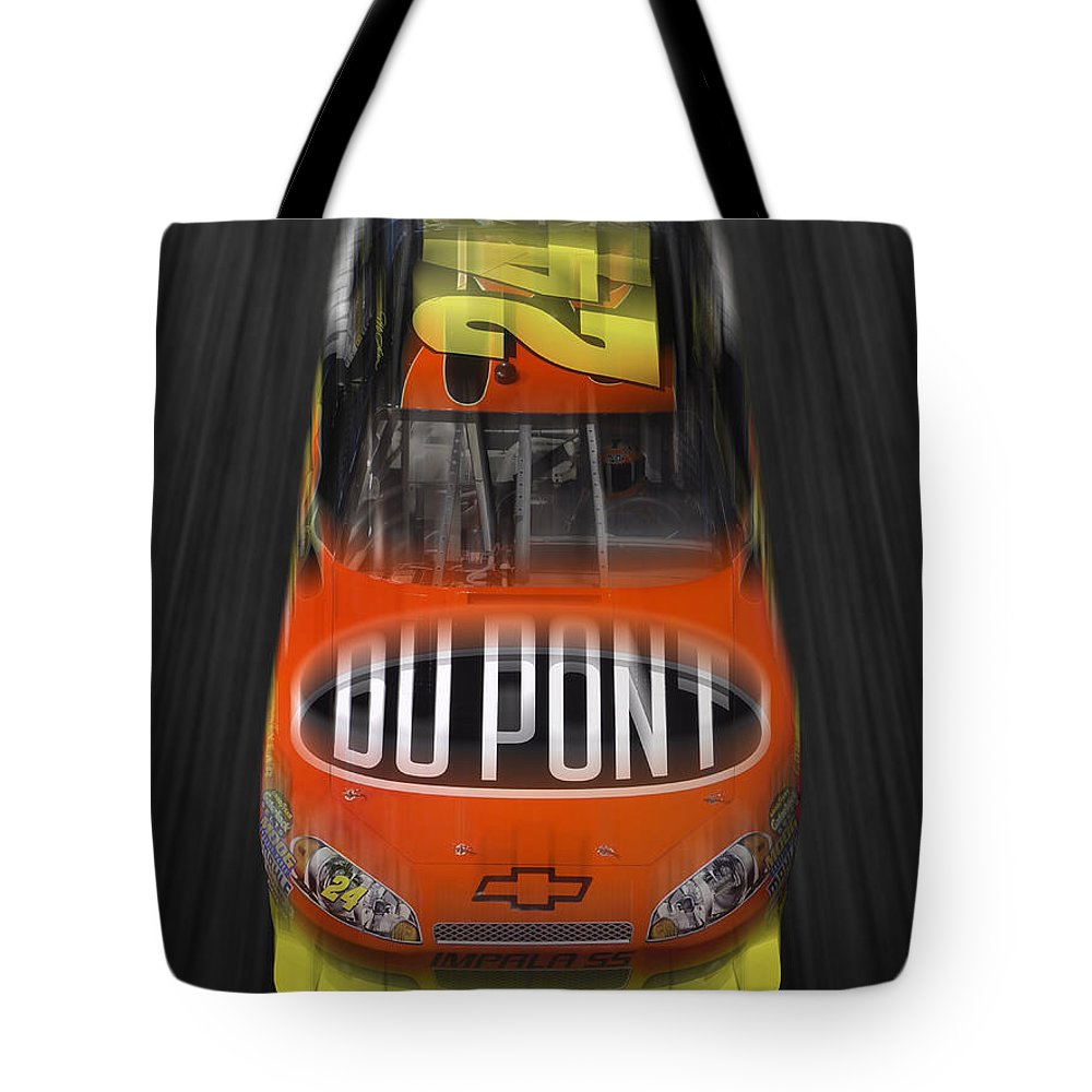 Jeff Gordon Tote Bag featuring the photograph Gordon On The Move by Mike McGlothlen