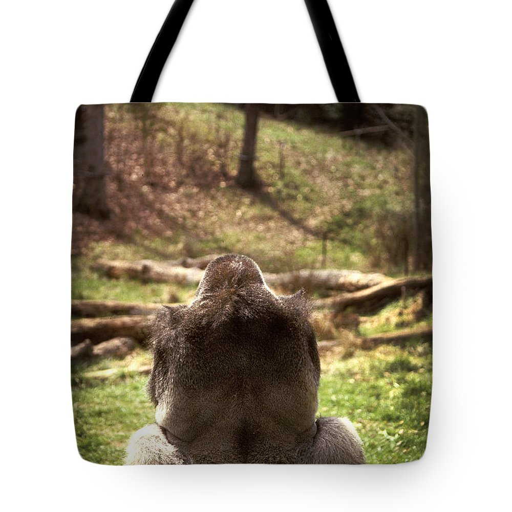 Gorilla Tote Bag featuring the photograph Gorilla At Peace by Paul W Faust - Impressions of Light