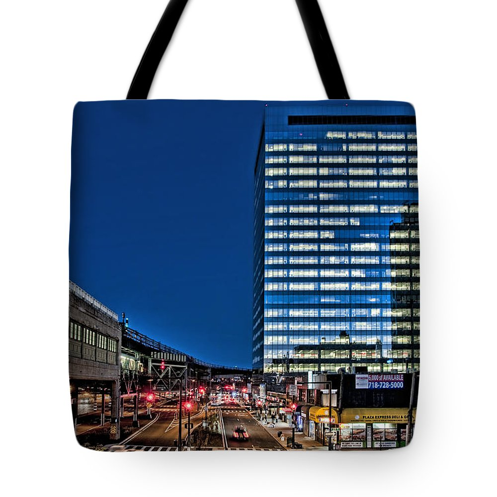 Gotham Center Tote Bag featuring the photograph Gotham At The Plaza by S Paul Sahm