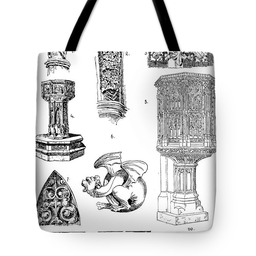 Architecture Tote Bag featuring the photograph Gothic Ornament by Granger