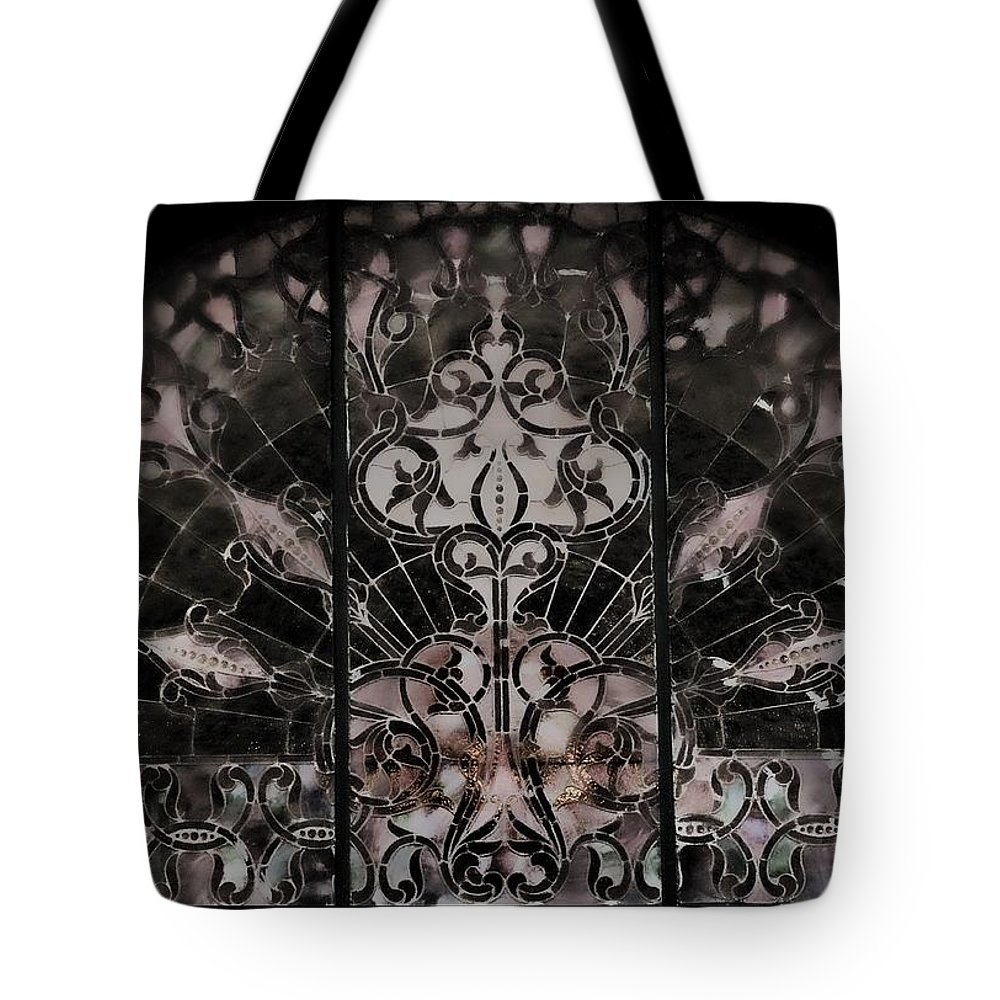 Black And White Tote Bag featuring the photograph Gothic Squidward by Sheri Bartoszek