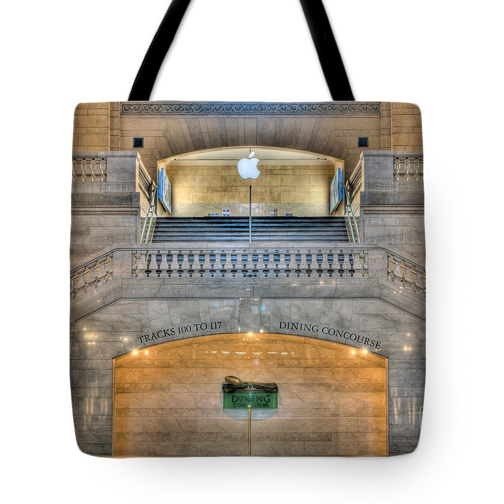 Clarence Holmes Tote Bag featuring the photograph Grand Central Terminal East Balcony I by Clarence Holmes