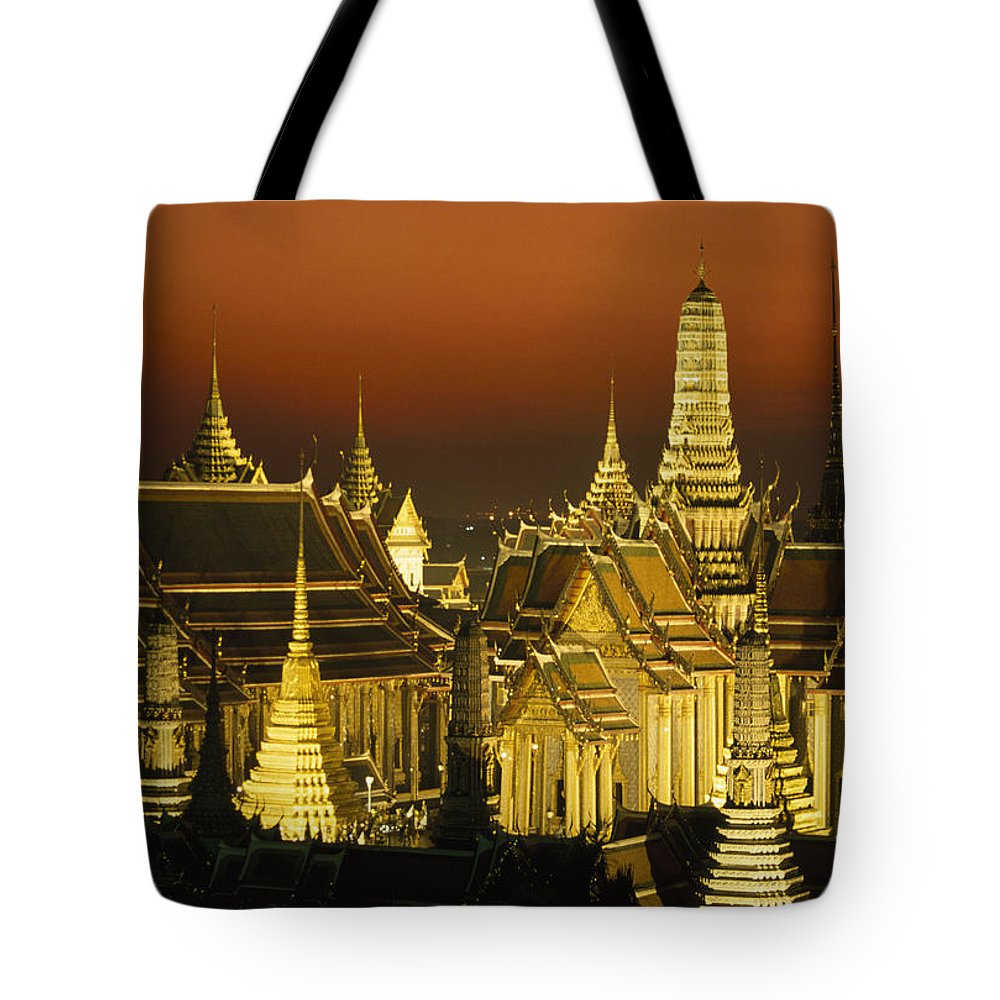 Color Image Tote Bag featuring the photograph Grand Palace And Temple Of The Emerald by Paul Chesley